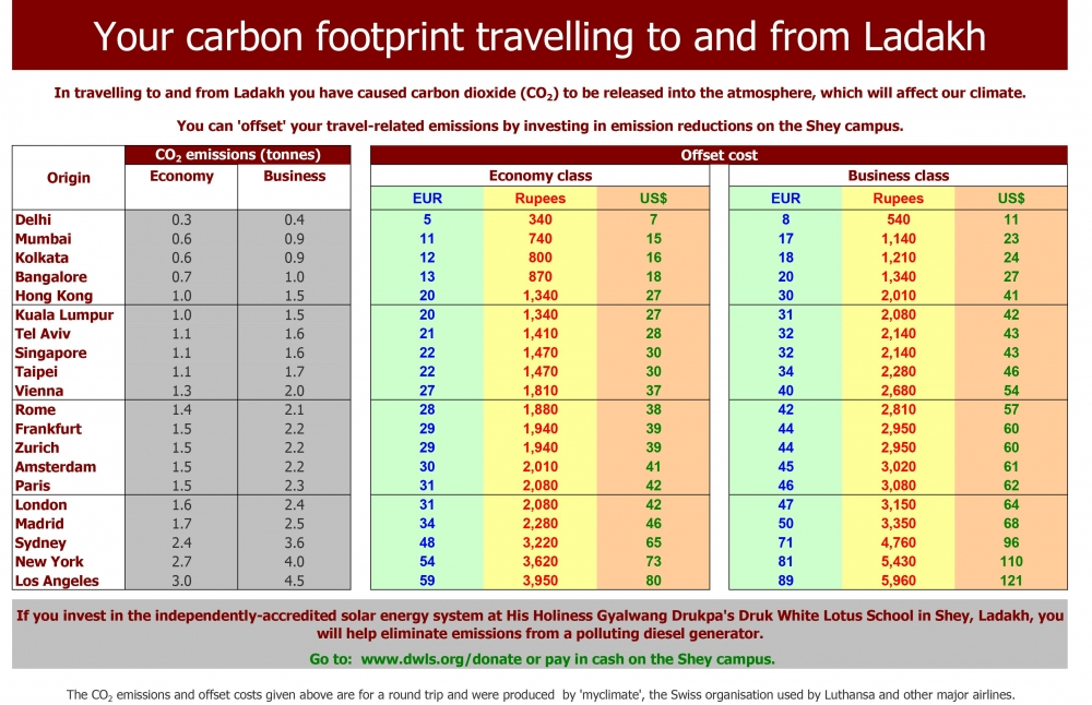 Carbon Offset Table Shey