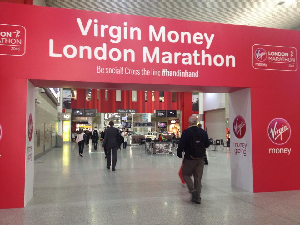 Virgin Money London Marathon sign