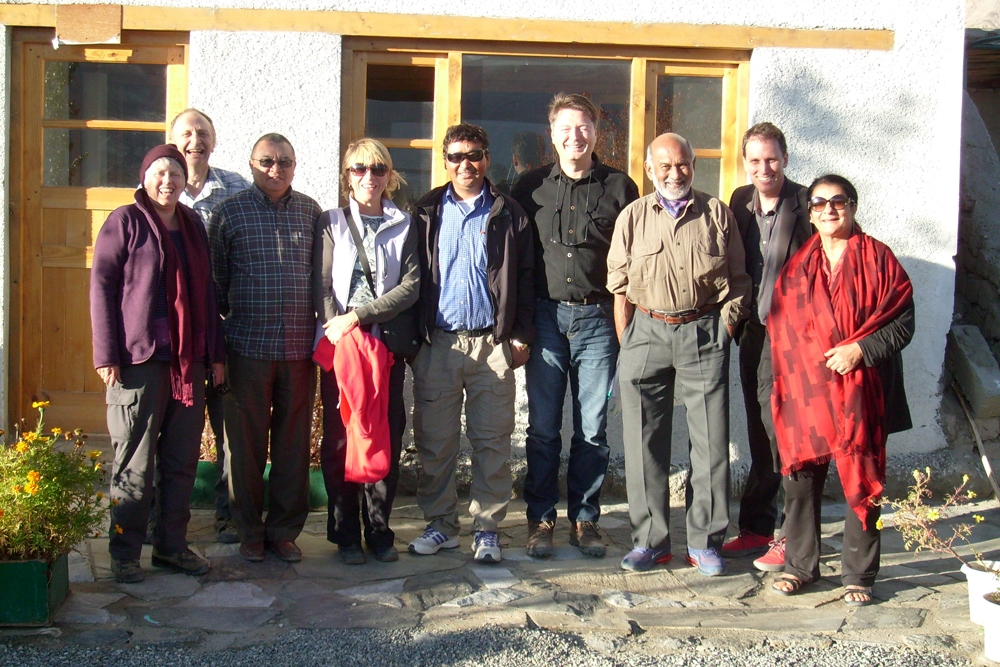 Site visit by Ladakhi board members, Indian advisers, and UK representatives from University of Greenwich, Arup and Drukpa Trust